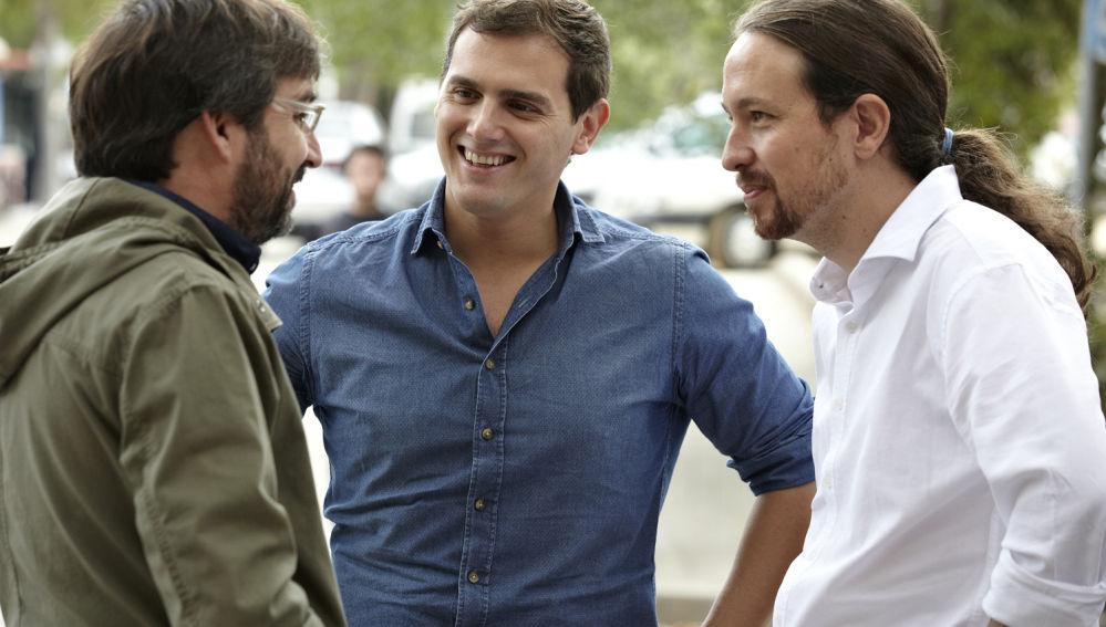 Cara a cara entre Albert Rivera y Pablo Iglesias en 'Salvados'