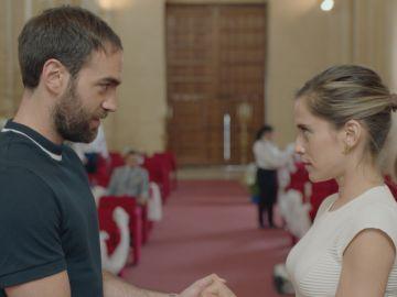 Carmen e Iñaki ensayan para su boda