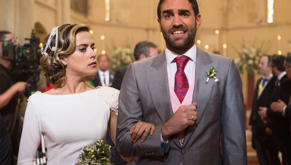 Carmen e Iñaki en el altar