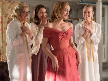 Rita, Ana, Clara y Lucía en el taller
