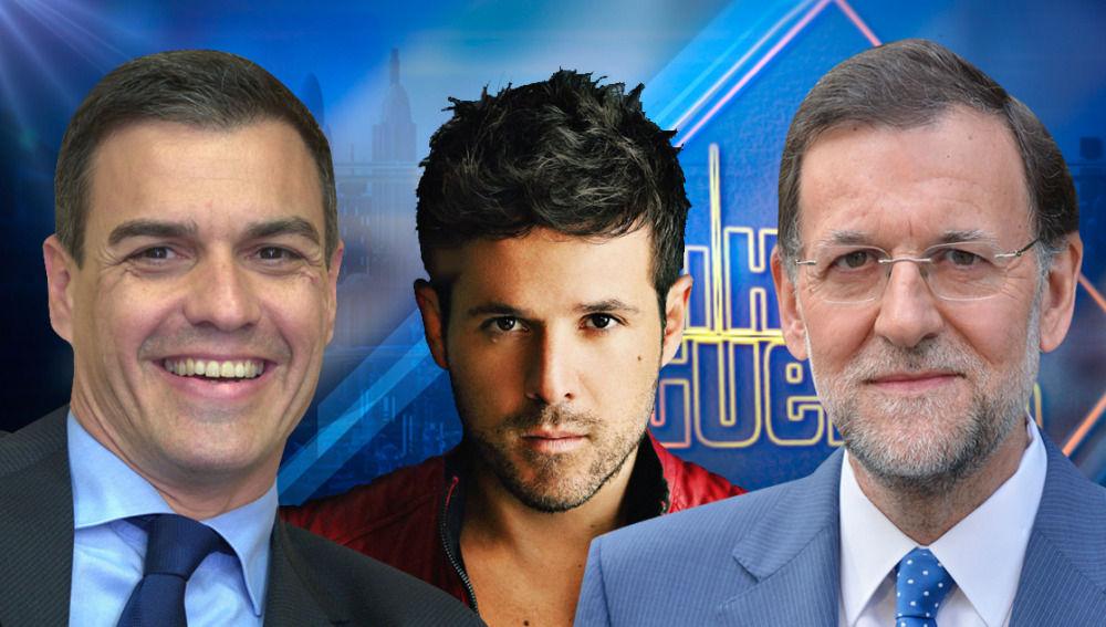Pedro Sánchez, Pablo López y Mariano Rajoy visitan 'El Hormiguero 3.0'