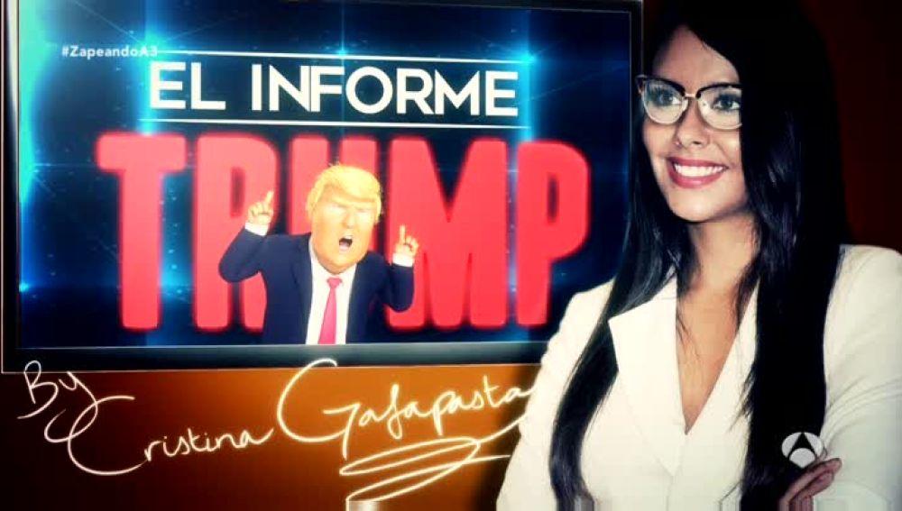 """Cristina Pedroche presenta """"El informe Trump"""" en 'Zapeando'"""