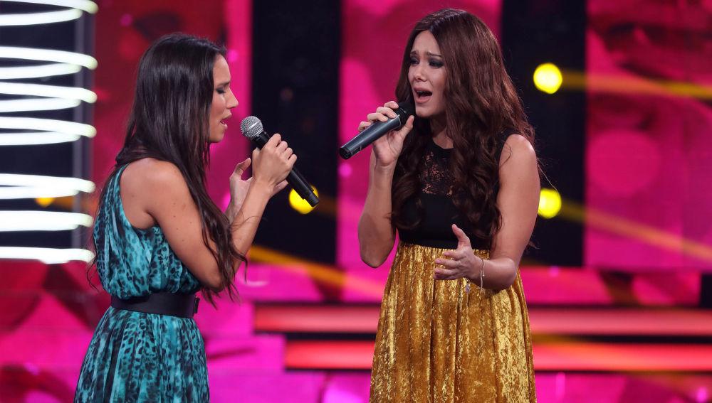 India Martínez y Lorena Gómez cantan juntas en 'Tu Cara Me Suena'