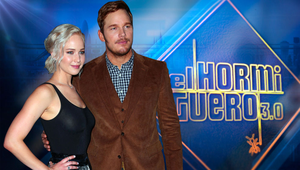 Jennifer Lawrence y Chris Pratt en 'El Hormiguero 3.0'