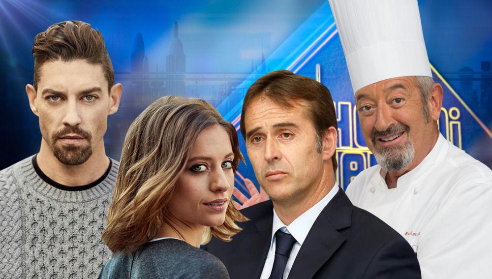 Julen Lopetegui, Michelle Jenner, Adrián Lastra y Karlos Arguiñano en 'El Hormiguero 3.0'