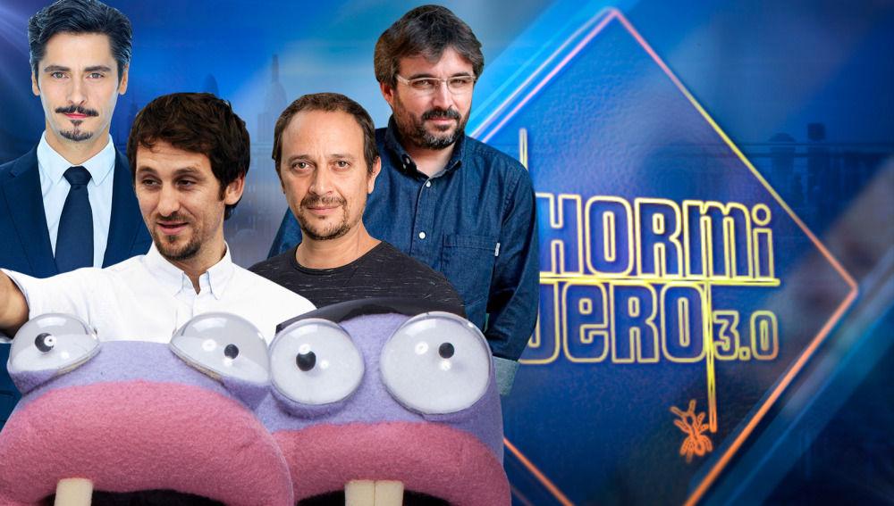 Antonio Pagudo, Raúl Arévalo, Luis Callejo y Jordi Évole en 'El Hormiguero 3.0'