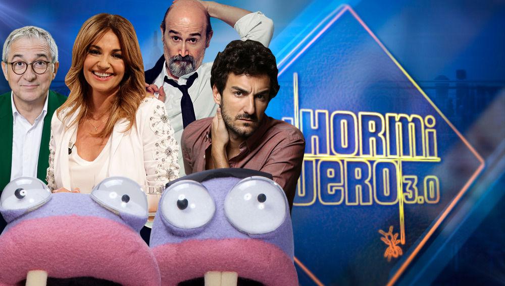 Javier Cámara con Miki Esparbé, Xavier Sardá y Mariló Montero en 'El Hormiguero 3.0'