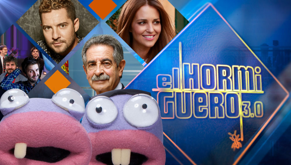 Joaquín Reyes, Ernesto Sevilla, Julián López, Raúl Cimas, David Bisbal, Miguel Ángel Revilla y Paula Echevarría, en 'El Hormiguero 3.0'