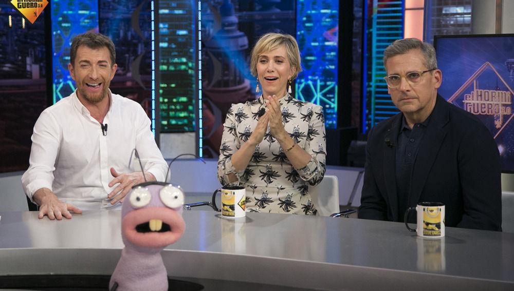Steve Carrell y Kristen Wiig en 'El Hormiguero 3.0'