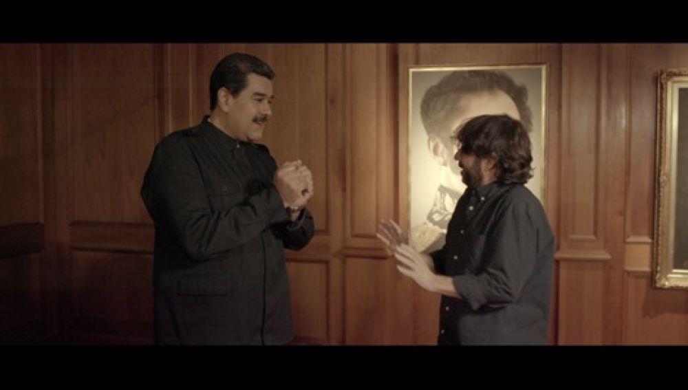 Nicolás Maduro, antes de su entrevista en 'Salvados'