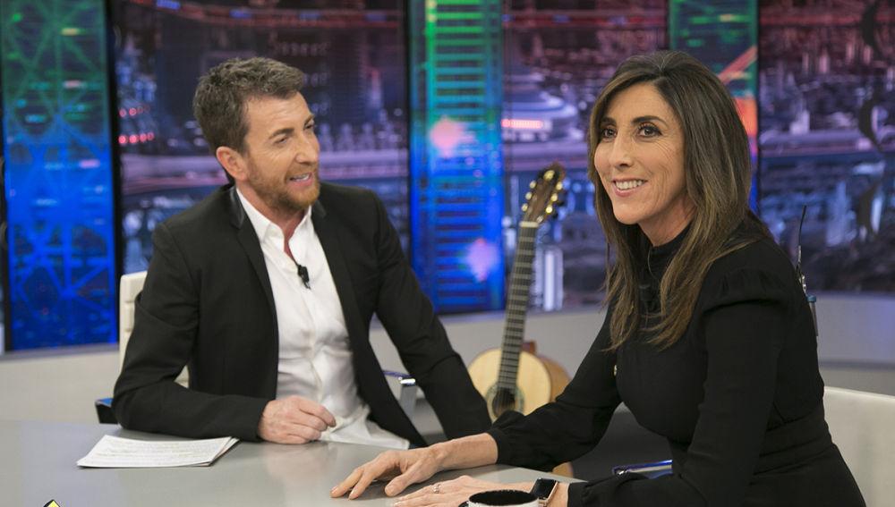 Paz Padilla, con Pablo Motos