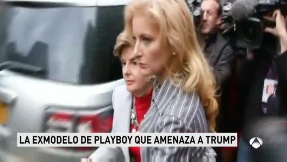 La exmodelo de Playboy que amenaza a Trump