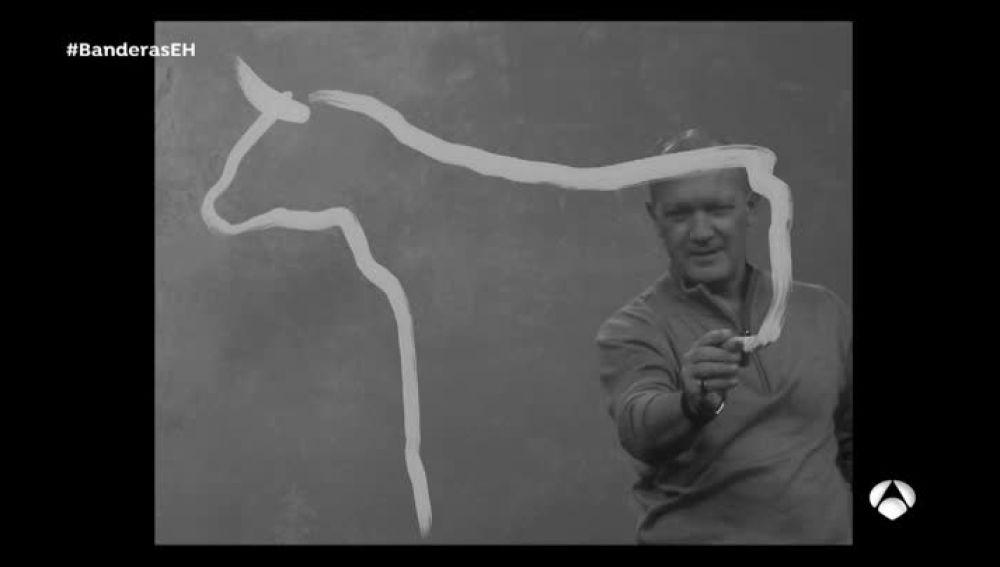 Antonio Banderas, pintando como Picasso