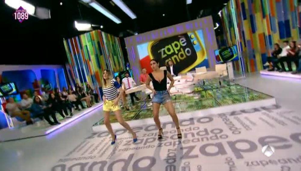 Pedroche y Simón bailan la coreografía de 'Lo malo'