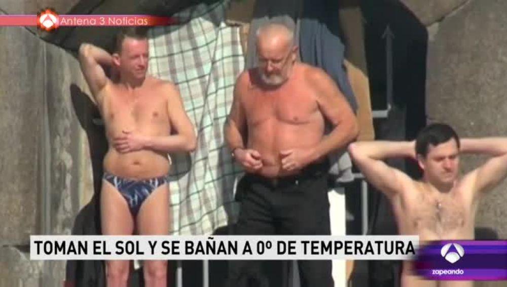 En Rusia, toman el sol con 0º centígrados