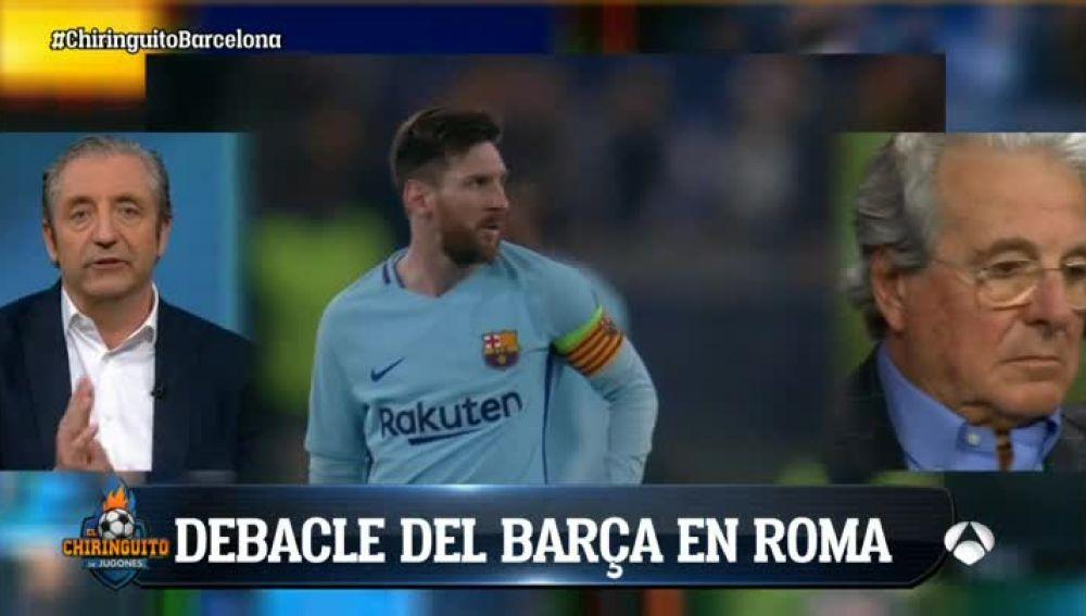 Debacle del Barcelona en Roma