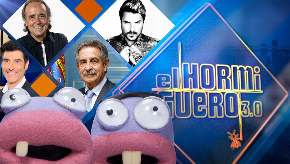 Jorge Fernández, Joan Manuel Serrat, Miguel Ángel Revilla y Dani Martín, en 'El hormiguero 3.0'