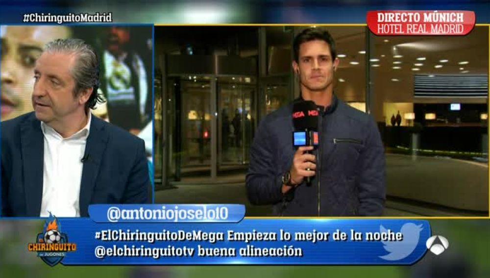 Edu Aguirre, en el hotel del Real Madrid en Münich