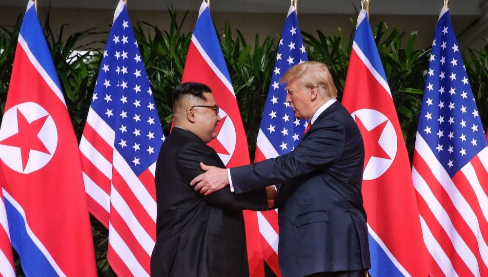 Kim-Jong-un y Donald Trump
