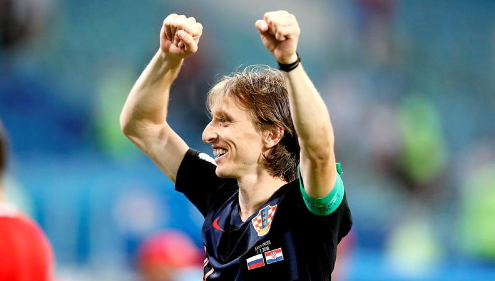 El centrocampista de la Selección de Croacia, Luka Modric.