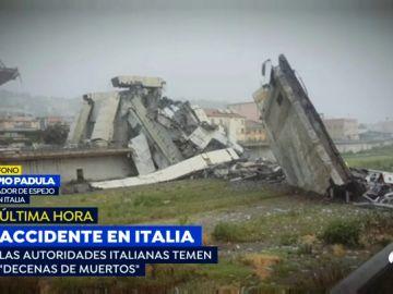 Un viaducto se derrumba cerca de Génova