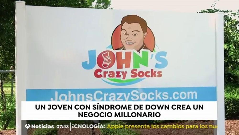 """Un joven con síndrome de Down se convierte en millonario gracias a """"calcetines locos"""""""