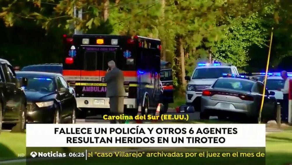 Un policía fallece y otros seis agentes son heridos en Carolina del Sur