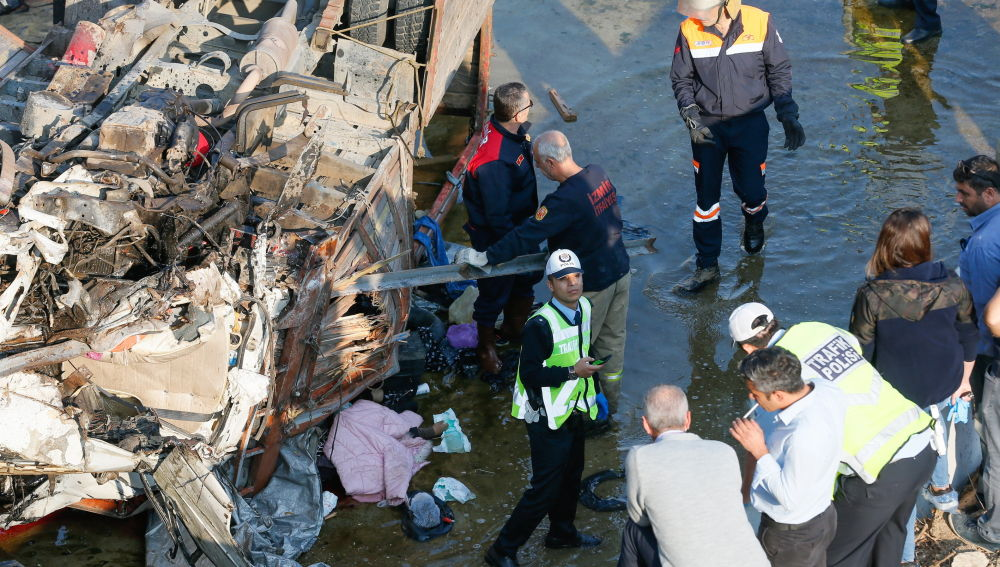 Accidente de una camioneta en Turquía