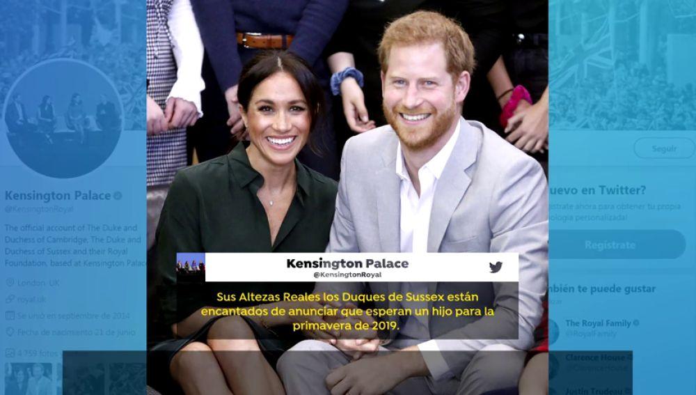 El príncipe Harry y Meghan Markle esperan su primer hijo para la primavera de 2019