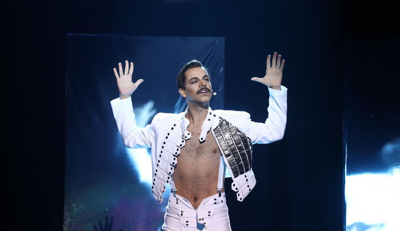 Agoney nos deja impresionados con su estelar imitación de Freddie Mercury