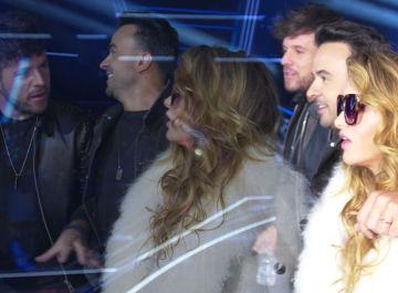 Paulina Rubio, Luis Fonsi, Pablo López y Antonio Orozco, alucinados tras pisar por primera vez el espectacular plató de 'La voz'