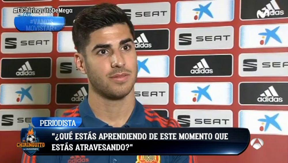 """Asensio: """"yo no tengo que tirar del carro en el Real Madrid"""""""