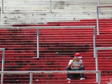 Un aficionado de River Plate, en el Monumental