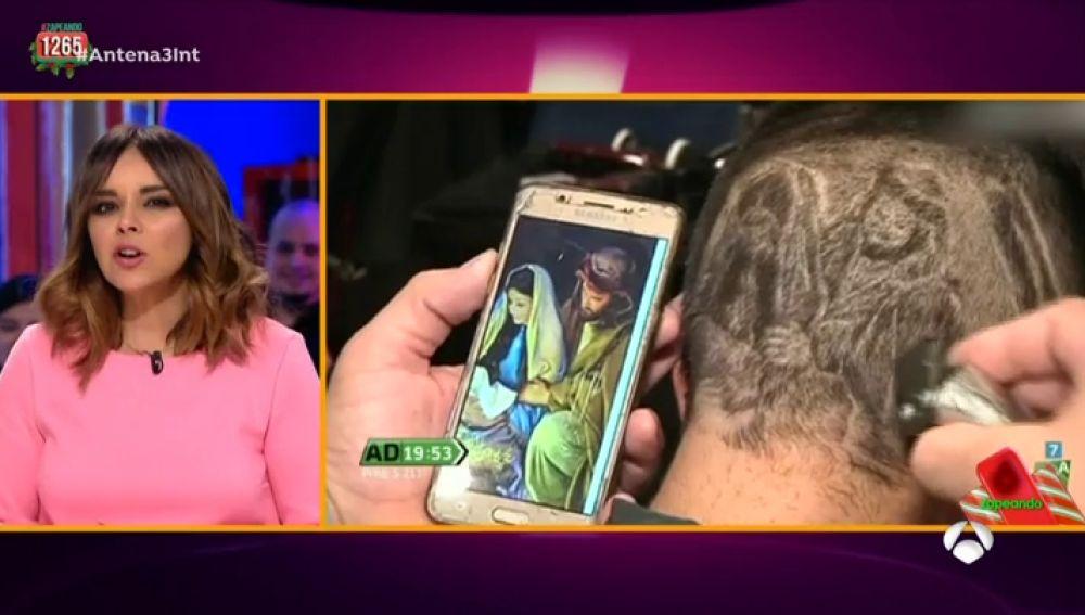 El corte de pelo más Navideño ha llegado a 'Zapeando'