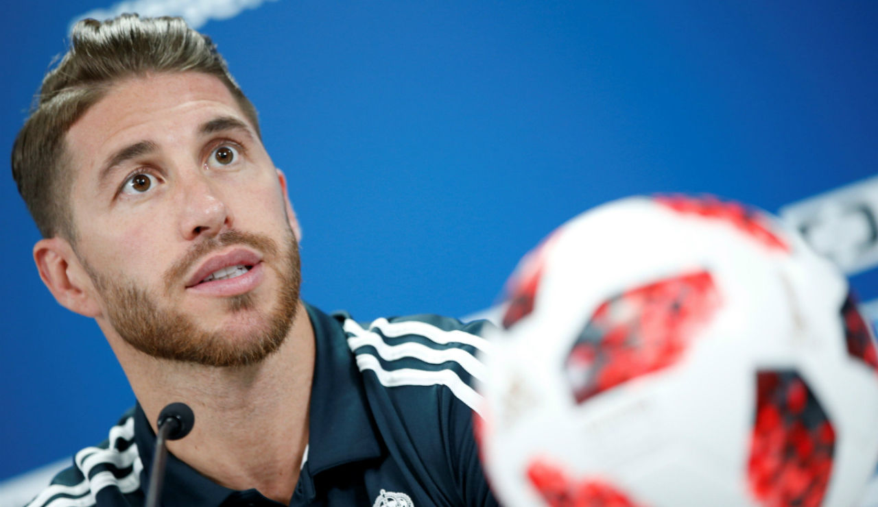 Sergio Ramos, en rueda de prensa