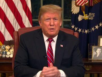 Trump criminaliza a los migrantes en un mensaje dirigido a la nación