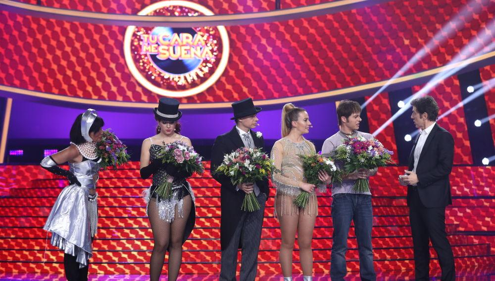 Soraya Arnelas, Mimi, Carlos Baute, María Villalón y Jordi Coll, finalistas de la séptima edición de 'Tu cara me suena'