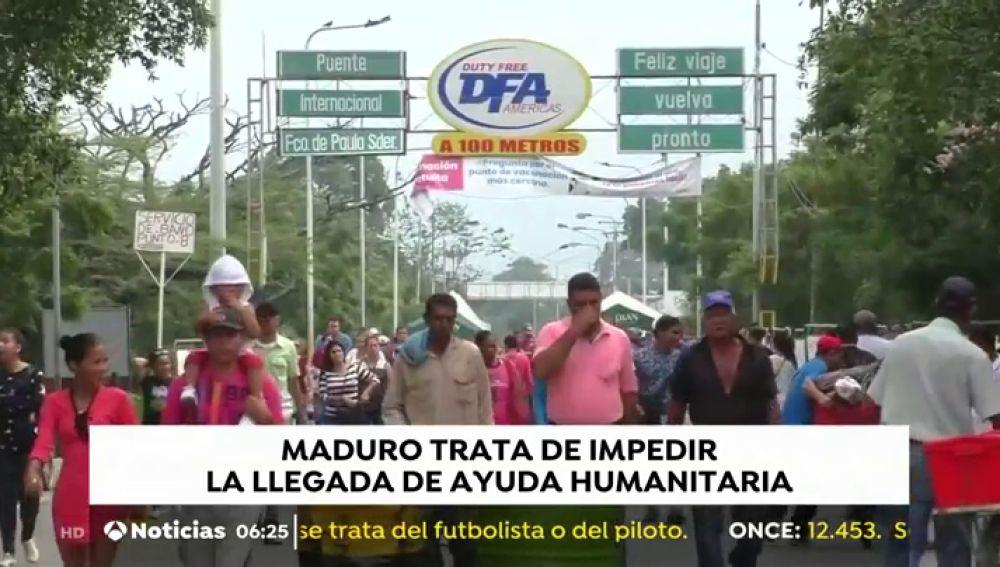 REEMPLAZO VENEZUELA: Denuncian un bloqueo militar en el puente por el que puede entrar ayuda a Venezuela