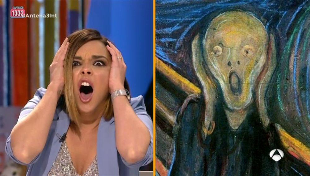 Los 'zapeanders' imitan el gesto de 'El grito' de Munch