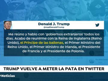 Trump se refiere al Príncipe Carlos como 'Príncipe de las Ballenas'