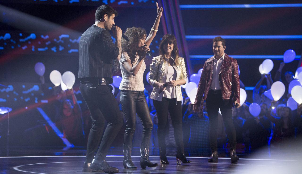 Así ha sido la primera gala de Audiciones a ciegas de 'La Voz Kids': los coaches cantan sus canciones con los talents