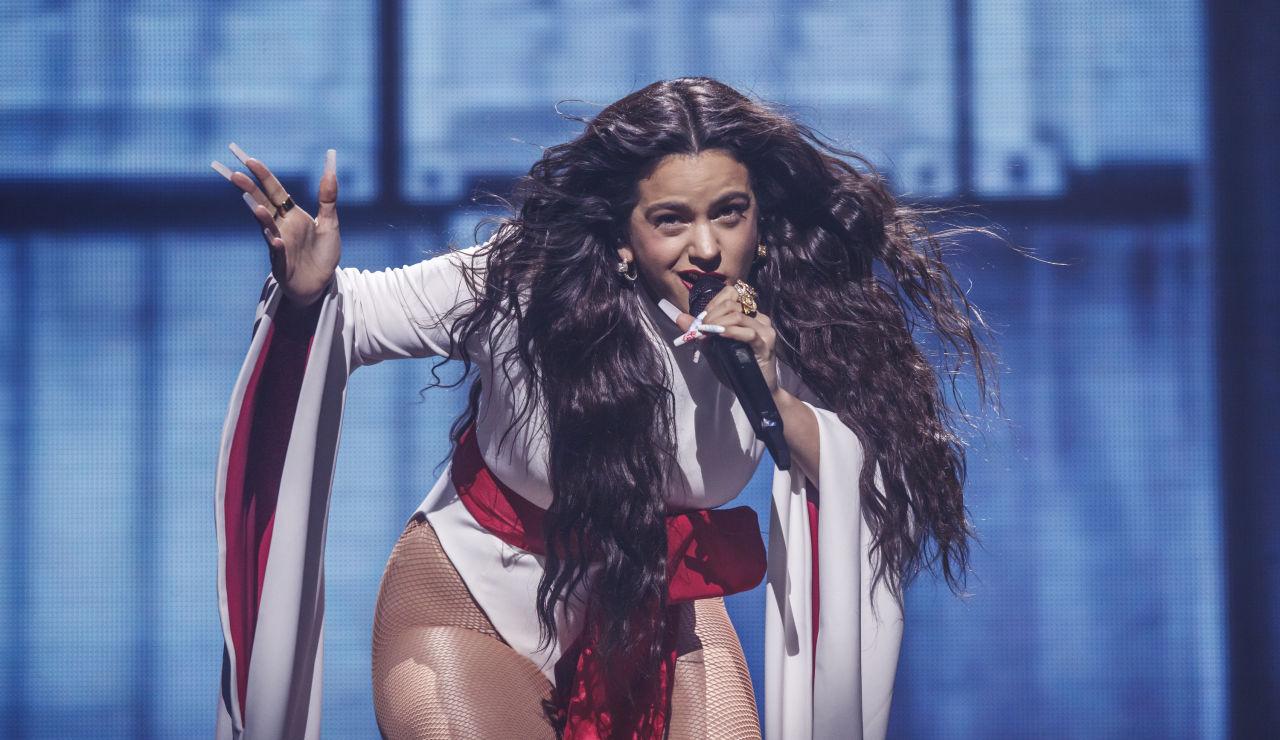 Rosalía durante su concierto en Madrid