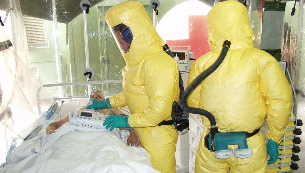 Aislamiento de ébola