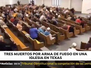 Tres muertos en un tiroteo en una iglesia de Texas