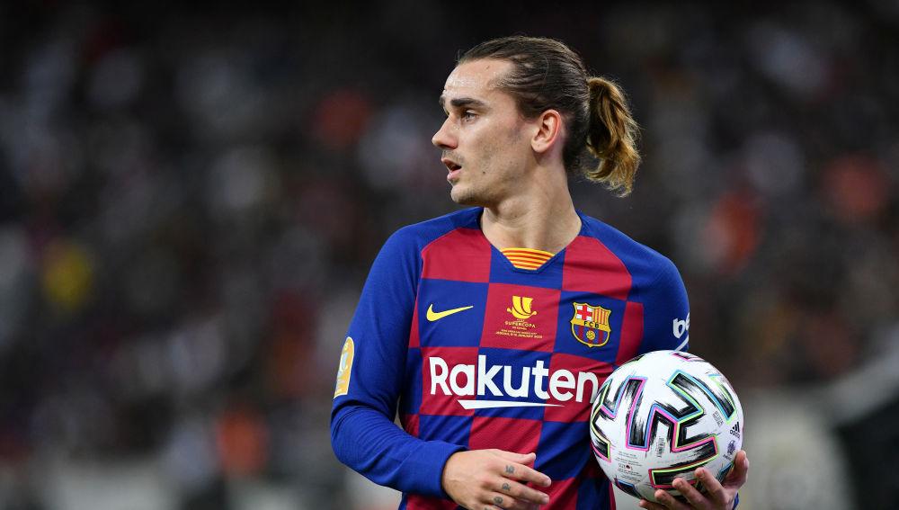 Griezmann, en un partido con el Barça
