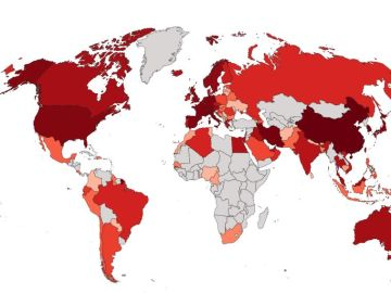 Mapa de contagios con coronavirus