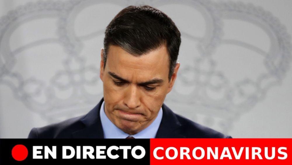 Coronavirus España: Comparecencia de Pedro Sánchez hoy, última hora en directo | Coronavirus última hora