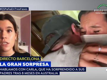 La gran sorpresa de Carla en su vuelta a España tras ocho meses en Australia