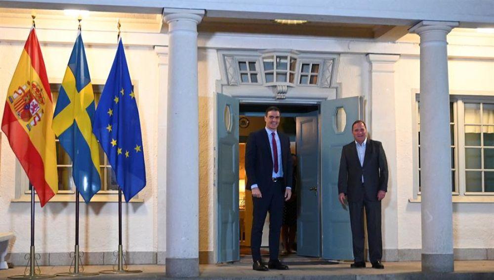 Pedro Sánchez se reúne con el primer ministro sueco, Stefan Löfven