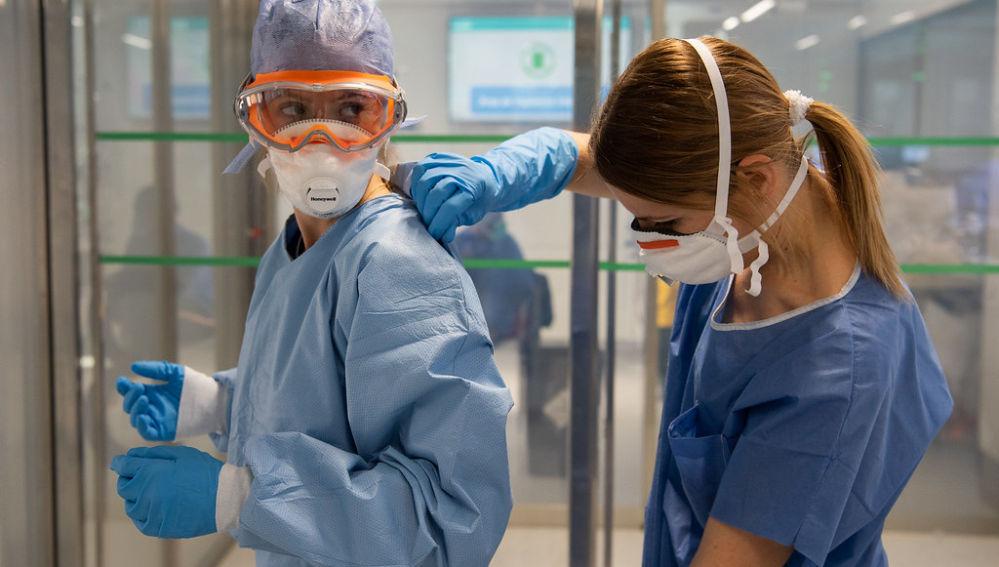 Trabajadoras del Hospital Clínic